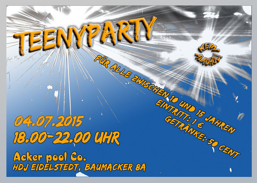 Teenyparty am 04.07.2015