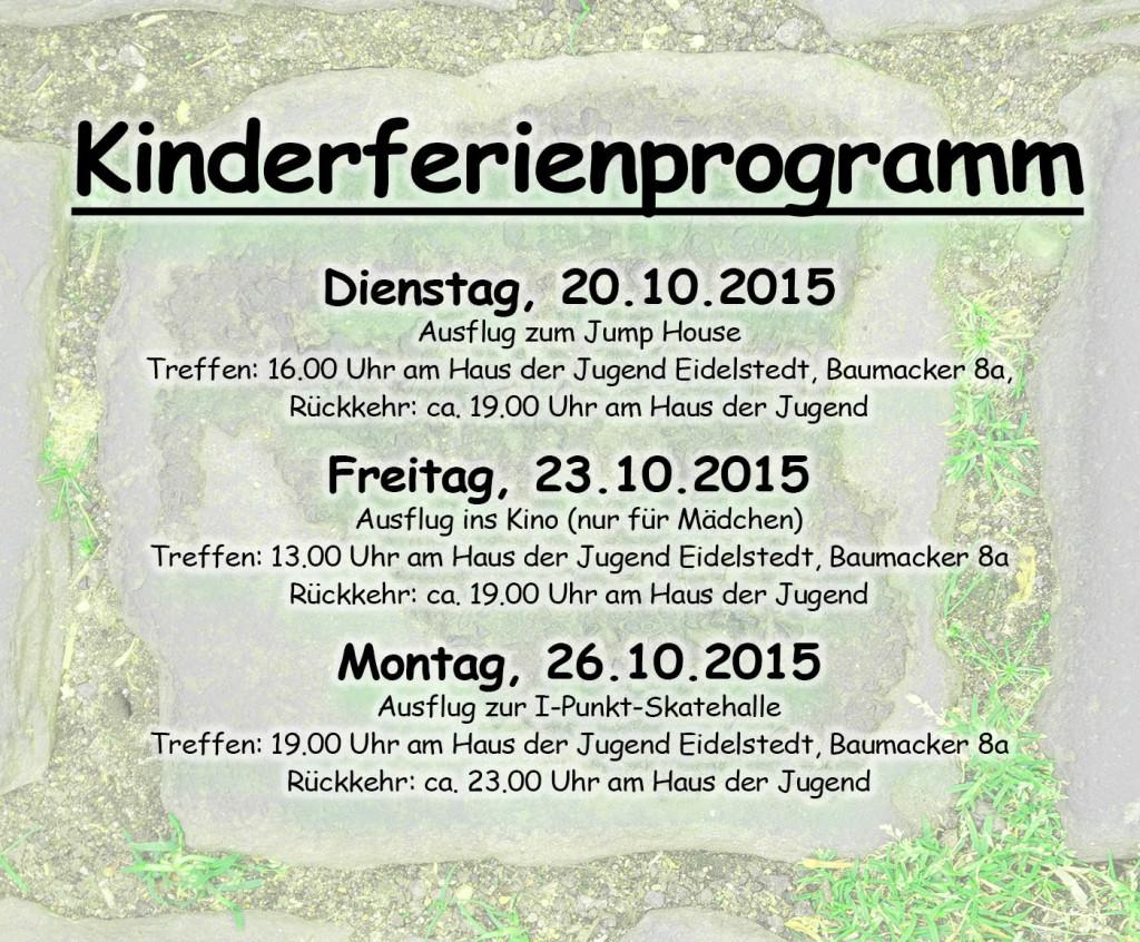 Ferienprogramm Herbst 2015