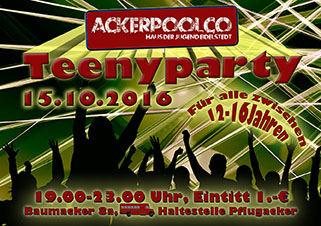Teenyparty am 15.10.
