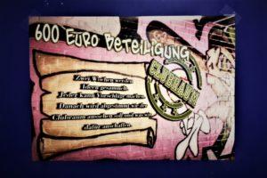 600 Euro Clubraum-Beteiligung