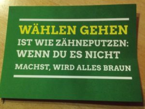 Bundestagswahl am Sonntag!!!